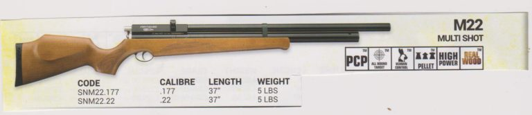 M22 Multi-shot PCP Rifle Image